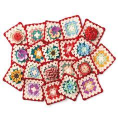 イングリッシュガーデンのお花たち かぎ針編みのカラフルモチーフブランケットの会(12回限定コレクション) | フェリシモ