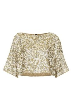 Topshop Draped Sequin Crop Top++NORDSTROM