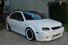 Clean White on Black Jetta
