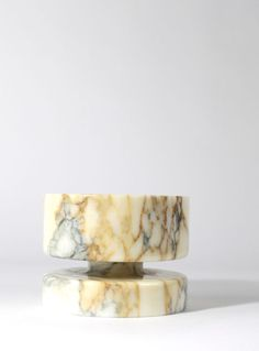 Angelo Mangiarotti; #8535 Marble Bowl for Knoll, 1968.