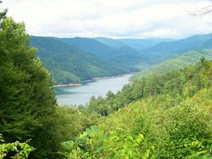 Overlook of Tennessee River..Fontana Dam area Appalachian Mountains