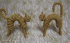 Всем доброго весеннего денечка! Сплела вот на заказ двух котиков. Плела по фото, которое я думаю многие видели на просторах интернета. Только моя версия)  фото 1
