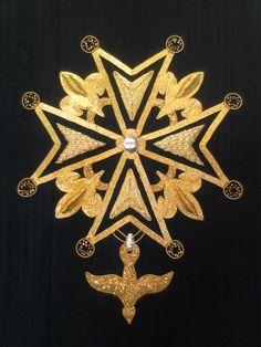 My Basic Goldwork -Huguenot Cross