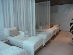 #iHeartRadio @Fontainebleau Guests relax in Lapis Spa's waiting area at the Fontainebleau Miami Beach.