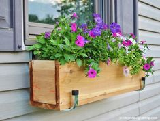 Top 10 Best DIY Window Boxes - links to projects - at http://www.topinspired.com/top-10-best-diy-window-boxes/