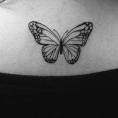 Tattoo butterfly borboleta tatuagem feminina girl