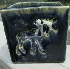 Bennington Vermont Pottery Blue Agate Moose Candle Votive Holder~Pre-owned Camp | eBay