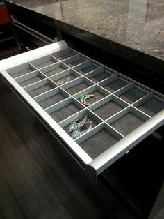 Jewelry Organizer With Liner, Chrome   California Closets Twin Cities
