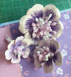 Smart and Beautiful: Card with handmade flowers + tutorial
