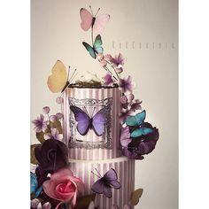 ♥ #butikpasta #şekerhamuru #caketopper #fondant #kekcouture #sugarart #waferpaper #waferpaperbutterflies