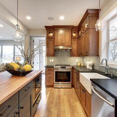 Instagram Kitchen Kit, Kitchen Ideas, Kitchen Wall Cabinets, Schedule Design, Updated Kitchen, Kitchen Updates, Mid Century Modern Kitchen, The Tile Shop, Grey Glass