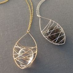 Cage Necklace (Love the shape of this!)