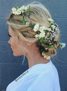 Prom/Wedding Flower Up-do Tutorial