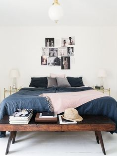 minimalist bedroom | end of bed bench