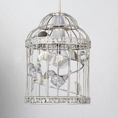 Classique collection wire birdcage tea light holder cherry blossom bethany birdcage pendant dunelm mill light shadeslamp aloadofball Image collections