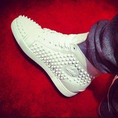 White Christian Louboutin Sneakers