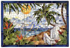 Custom Made Faux Mosaic Backsplashes