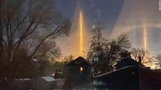 Light pillars dazzle in the cold, northern US sky - CNN Meanwhile In America, The Rainmaker, Giant Mirror, Arctic Air, Canadian Prairies, Weather Predictions, North Platte, The Last Laugh, Sky