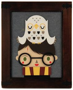 Harry Potter and Hedwig Owl Fine Picture iPhone Skin Protector for iPhone 4 5 ☻ ☺ ☻ Fanart Harry Potter, Harry Potter World, Harry Potter Artwork, Harry Potter Cartoon, Cute Harry Potter, Harry Potter Nursery, Rocky Horror, Art And Illustration, Cartoon Pencil Sketches