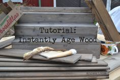 Instantly age-wood.... this will be good when old barn wood has fresh cut ends