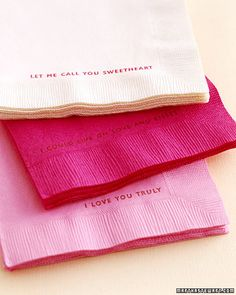 Napkins in Shades of Pink