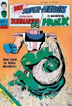 Príncipe Submarino e O Incrível Hulk (Super X) n° 37 - Ebal
