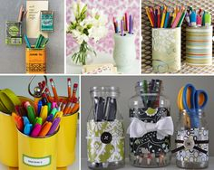 Creative storage solutions from recycled materials.