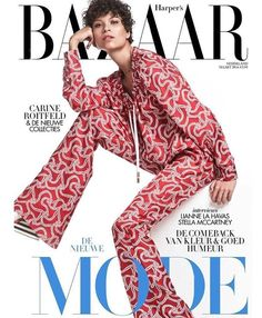 Ari Westphal stars in Harper's Bazaar Netherlands magazine February 2016 Cover