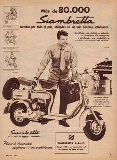 SIAMBRETTA. Publicidad argentina de 1961.