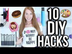 10 DIY HACKS DIE JEDES MÄDCHEN BRAUCHT! | LaurenCocoXO - YouTube