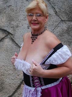 big boobed granny