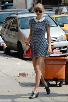 Taylor Swift. NYC. August 1, 2014. She looks ADORABLE!!!! The bangs are back new album is coming soon!
