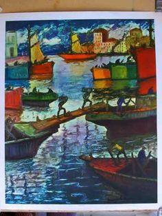Quinquela Martin, Benito - Día Luminoso Pablo Picasso, Types Of Art, Artsy Fartsy, Cactus, Colourful Art, Lily, Art Gallery, Painting, Color