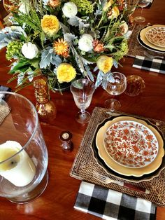 Thanksgiving tabletop from Quintessence with Mottahedeh Sacred Bird and Butterfly Dinners and Festival Chargers