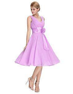Bridesmaid Prom Dresses Knee Length Short Formal Party Chiffon Blue Purple  Bridesmaid Gown Robe De Soiree 9d373203e