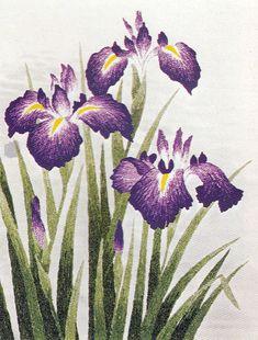 Bunka shishu embroidery iris 東京文化刺繍キットNo141かきつばた(3号)