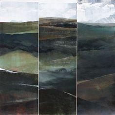Caroline Rannersberger Into Mt Mangana 2012 oil, pigment on paper 3x(120x40cm) www.carolinerannersberger.com