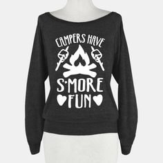 Campers Have S'more Fun #camp #camping #smores #camper #campfire