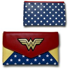 """Wonder Woman Envelope Wallet""; $18.99"