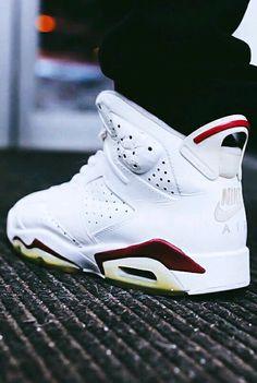 "Air Jordan 6 ""Maroon""  Pinterest: @theyadoreme"