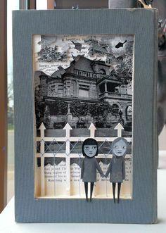 Soul Sisters - altered book #painting #art #denver #contemporary #alteredbook #alteredbookart