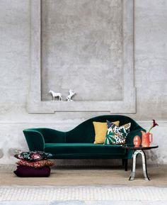 sleek modern in rich jewel tones juxtaposed against a chalky timeless old~world…