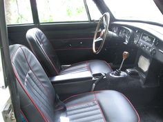 """Richard Mullins: """"This is what the interior of an MGB/GT Special looked like in 1967. But the seat covers are from Moss and are very much as original."""" #MyMossParts"""