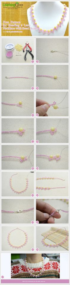 DIY beautiful bead necklace. I run a blog with DIY&tutorials about everything: Hair, nail, make-up, clothes, baking, decorations and much more! My blog adress is: http://tuwws.blogspot.se/