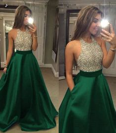 Beading Ball Gown Prom Dresses,2019 Prom Dresses,Satin Prom Dresses,Evening Dresses