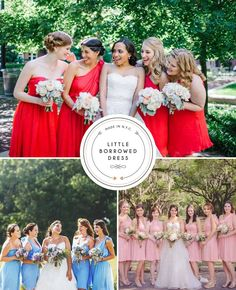 Bridesmaids dresses you can rent! Order a free fabric swatch from Little Borrowed Dress!