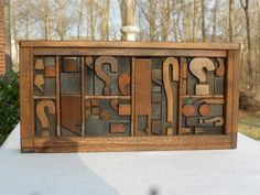 Old Letterpress Printing Wood Type Punctuation & Question Marks Graphic Design ?