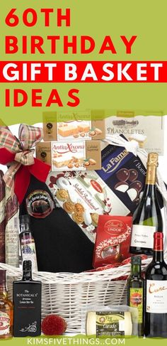 birthday gift basket for men and women. Thoughtful birthday celebration gifts for friends or family. Best Bday Gift, 60th Birthday Gifts For Men, Mom Birthday Crafts, Friend Birthday Gifts, 40th Birthday, Women Birthday, Birthday Ideas, Cookie Gift Baskets, Best Gift Baskets