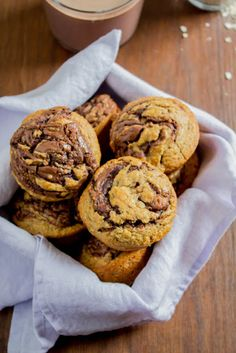 Banana Nutella Muffins, Biscuits, Mango, Cupcakes, Sweets, Cookies, Chocolate, Desserts, Recipes
