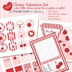 Cherry Valentine Party Set!